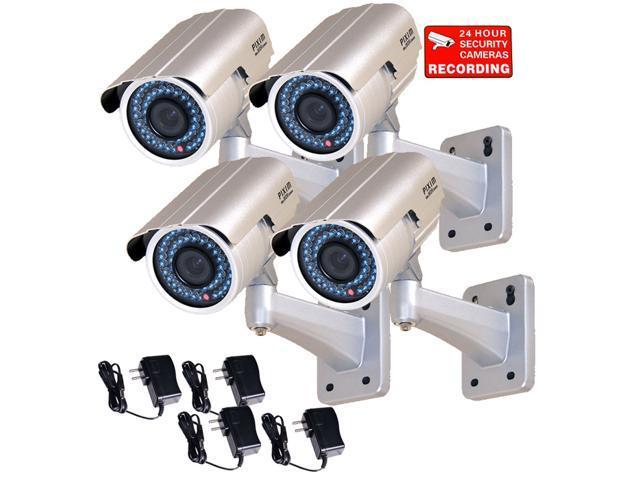 VideoSecu 4 Pack Outdoor Indoor Weatherproof Security Camera 1/3