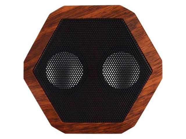 Boombotix Rex Bluetooth Ultraportable Wireless Speaker Woodgrain