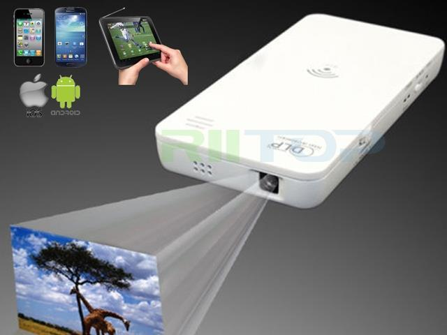 Pico Mini HD Wireless WiFi DLP Projector Proyector For iPhone iPad Samsung Android Phone Tablet PC with Power Bank