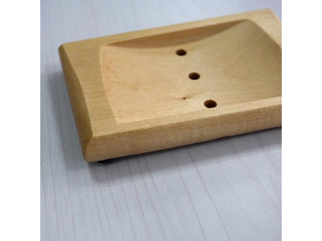 NICE 1pcs Natural Wood Soap Dish Box Container bathroom Accessory Storage