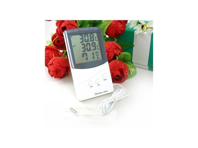 Digital LCD Hygrometer Thermometer Temperature Humidity Meter Alarm Clock Indoor