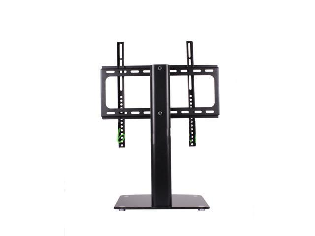 New Swivel TV Wall Mount & Articulating Tilt with Tripl Glass Shelf Media Stand