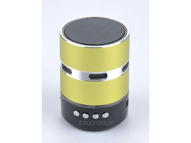 Green LED Flashing Bluetooth Audio Speaker With TF Card USB Slot For iPhone Samsung Laptop