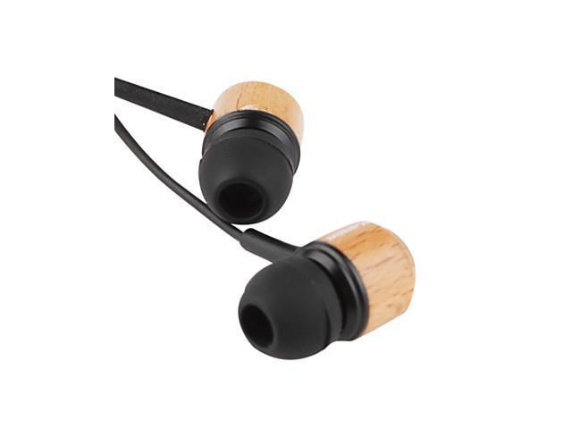 Headphone 3.5mm In Ear Canal Stereo Wooden Noise-Cancelling for Media Player/Tablet