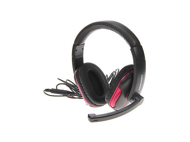 Portable Over-ear Stereo Headphones with Mic(Pink)
