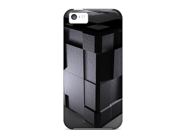 [lyt73523MFih] - New Cube Black 3d Protective Iphone 5c Classic Hardshell Cases