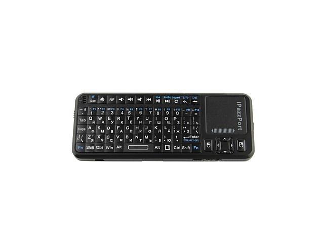 iPazzport KP-810-10A 2.4G Russian / English Wireless 83-Key Keyboard with Laser Pen - Black