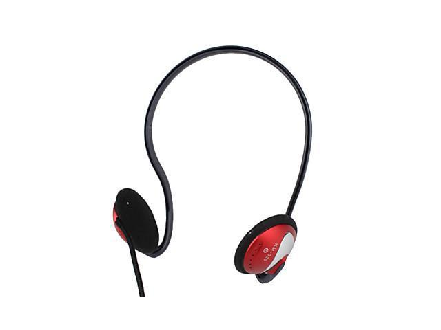 Kanen Stereo Quality Sound Neckband Design Headphone with Microphone and Volume Control (Red)
