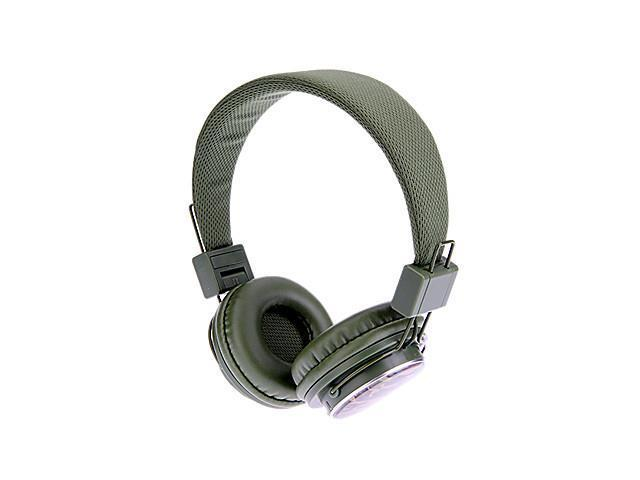 MRH-8809 Stereo Collapsible On-Ear Headphone with TF/FM Function(Green Stripe)