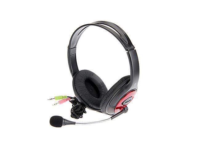 KT-I900MV Stereo On-Ear Headphone with Mic and Remote for Computer(Red+Black)