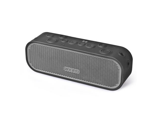 Mocreo Crater Water Resistant Portable Wireless Bluetooth Speaker Shockproof and Waterproof w/ Latest Bluetooth 4.0, NFC-Black