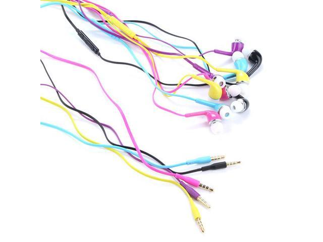 1/5 Colors 3.5mm Handsfree Earphone W/Volume Control For Samsung Galaxy S4 i9500