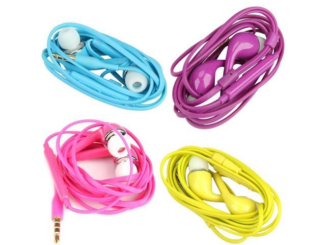 O3T# Colorful 3.5mm Headset Headphone Earphone for Samsung S4 i9500 w/ MIC Volume Control