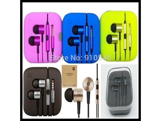 Color XIAOMI Piston II Earphone Headphone with Remote Mic For samsung iphone for XIAOMI MI2 MI2S MI2A Mi1S M1