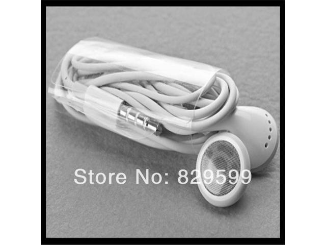 Fast shipping 5pcs/lot white Earphone with Mic For iPhone 4s 4 3GS ipod for iphone 5S 5C 5 white,good quality earphone for you