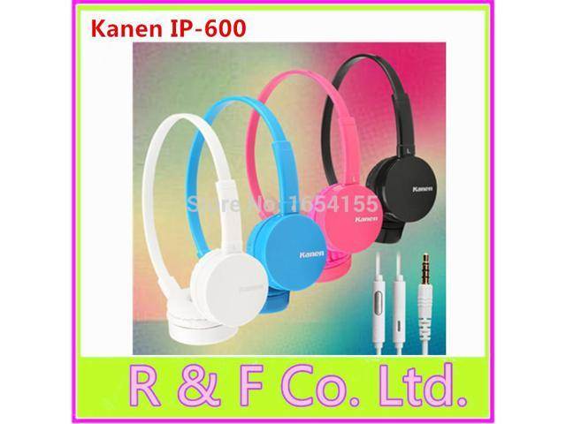 2014 latest original Kanen IP 600 headset headphone with mic wire controle for Iphone, Samsung,Xiaomi