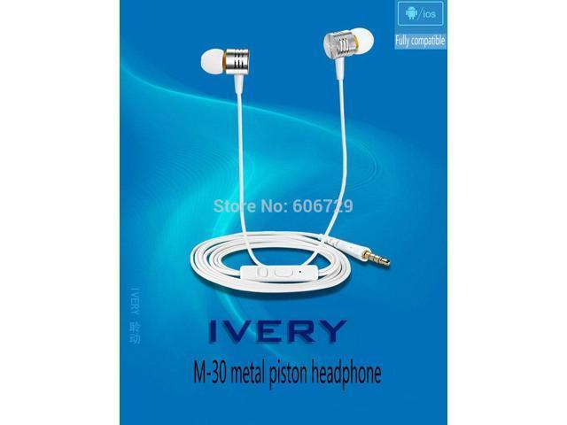 Top Quality 100% New M 30 Piston 3.5mm plug Headphones 5colors with Mic for iPhone 5s Samsung S5 S4 xiaomi mi3/4 redmi 1s hongmi