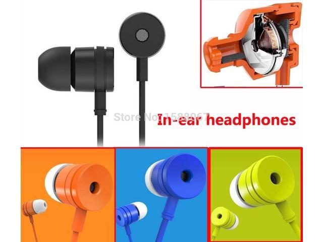 3.5mm Stereo Headset Headphone Earphone for Samsung Galaxy S2 S3 S4 S5 Note 2 3 4 N7100 with Volume Control Mic
