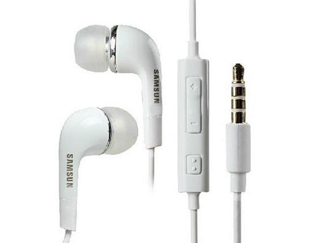 HOT Brand new 3.5mm Stereo Headset Headphone Earphone With Volume Mic for Samsung Galaxy S2 S3 S4 S5 Note 2 3 4