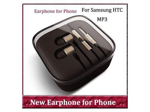 1pcs 2014 MI Headphones Handsfree Earpods With Volume Control Mic Earphone For Samsung Galaxy HTC