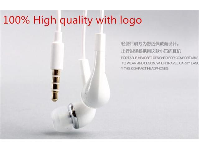 White Headset Earphone Headphones with mic Volume Control For Samsung Galaxy S2 S3 SIII Galaxy Note Galaxy Note2