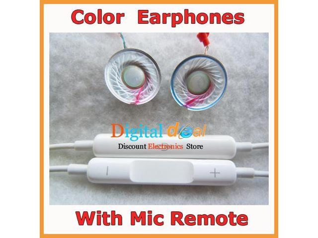 Cheap Earphones for iPhone 5 5S 5C for iPod Headset With Mic Remote !10pcs/lot
