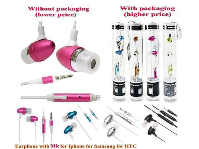 With Retail Packing Earphone High quality Headphones With Remote and Mic For IPhone for samsung for HTC smartphone