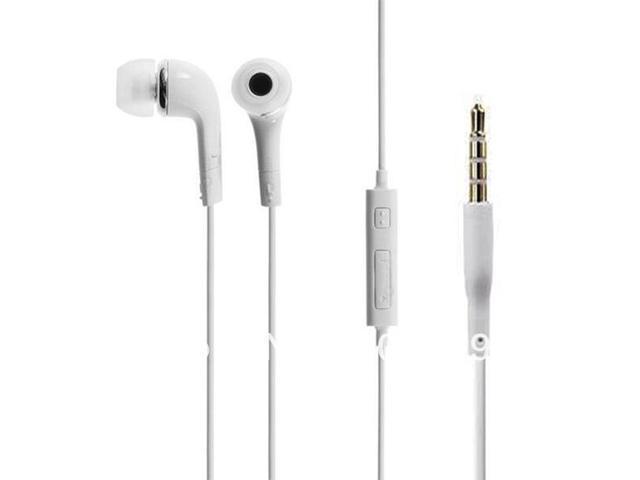 Earphone White OEM 3.5mm Handsfree Earphone W/Volume Control for Samsung Galaxy S4 i9500 Drop shipping