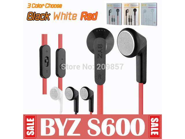 + BYZ S600 Mobile Phone Headphones With Microphone In Ear Earphones High Quality Mic For Earpods MP3 MP4 Cellphone