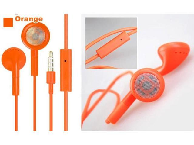2pcs/lot good quality colorful 3.5mm Stereo Headset Headphone Earphone For iPhone 4 4S 5 5G with Mic