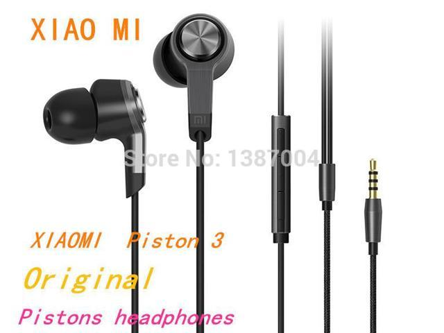 In stock ! Original 100% New High Quality XIAOMI Piston 3 Headphones Earphone with Mic For iPhone and Other phone