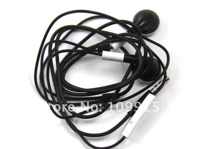 Earphone Headphone with Mic Volume Control for Iphone 4G 3GS Ipod Black
