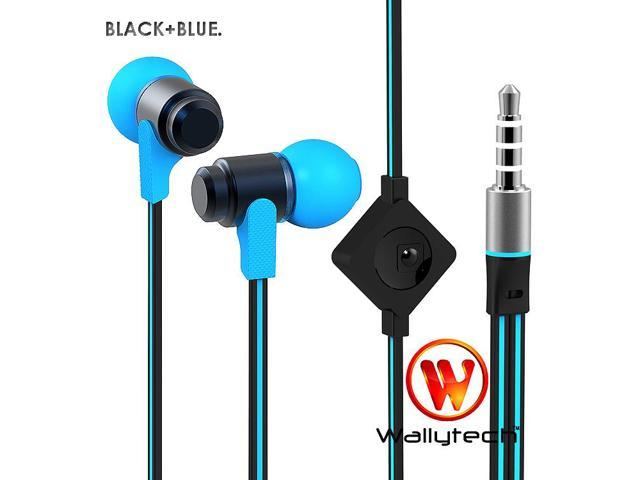 Wallytech High Quality Flat Cable Earphones Headphones For iPhone5 iPad Samsung HTC With Mic 6Colors (WHF 116)