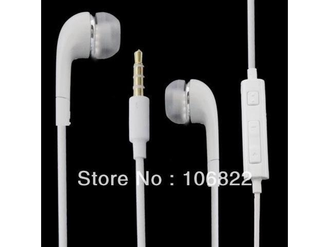 White OEM Headset Earphone Headphones W/Mic+Volume Control For Samsung Galaxy S2 S3 Note Drop Shipping