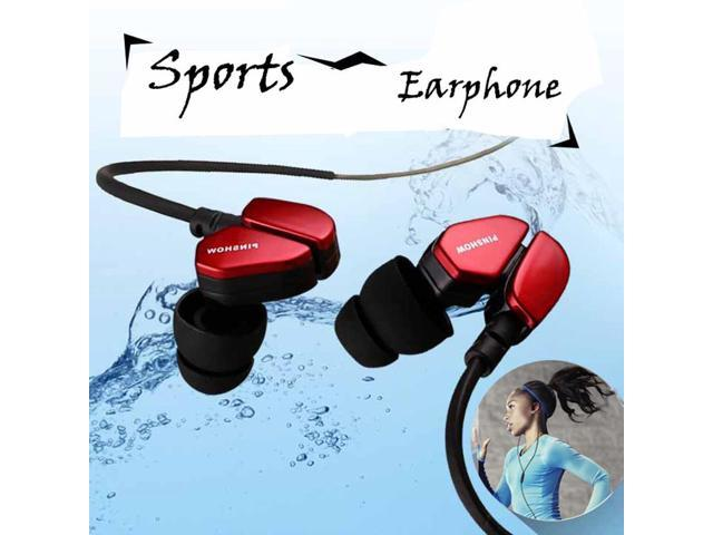 Sports Earphones Running Waterproof with Mic In ear Earhook Music Headset Stereo Bass for iPhone 6/6 Plus