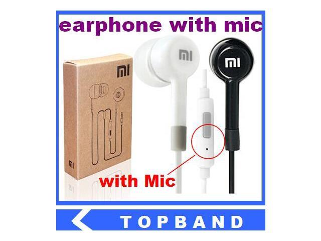 Clearance High Quality 3.5mm Xiaomi Earphone with Remote Mic for XIAOMI M2 Red Rice Hongmi iPhone Samsung