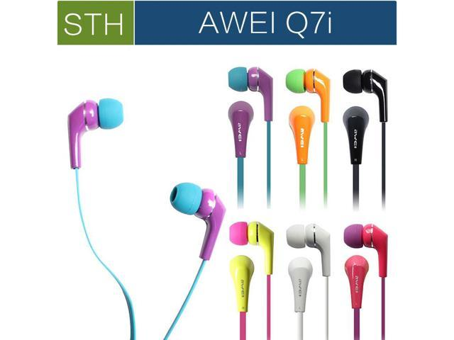 Original Awei ES Q7i 3.5mm In ear Earphone for Iphone Ipod mp3 mp4 with Microphone Mic, high quality Headphones,