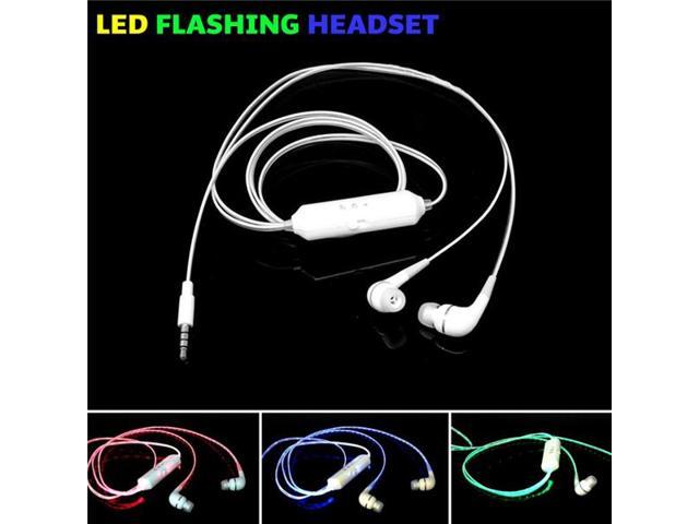 Hot Selling 3.5mm Plug In Ear Earphone Many Colors Can Choose Earphones with Mic Led lighting Cheap Earphones RB00013