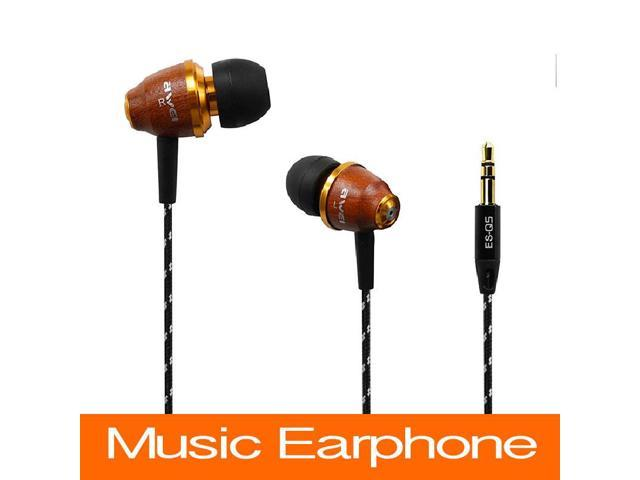 Hot Sell Awei ES Q5 Super Bass Headphones Earphone For IPhone/IPod/Android Headphone Headset For MP3/MP4 Wood Wiring Earphones