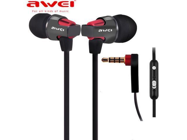 Original Awei ES 860Hi earphones In ear earphones headphones Super Clear Bass Metal Earbuds earpods 3.5mm for MP3 with mic