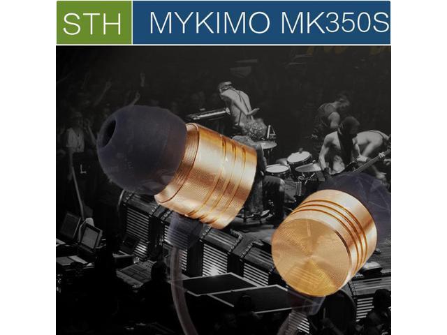Original MYKIMO MK350S 3.5mm In ear high Quality Super Clear Noise Metal heavy bass headphones, mic china Brand earphones