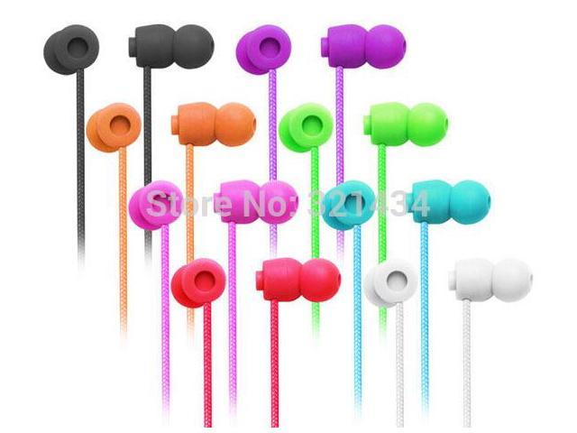 3.5mm Stereo Bass headsets headphones earphones with microphone volume control for mobile iphone 4 4S 5 5S 6 Samsung HTC iPod E5
