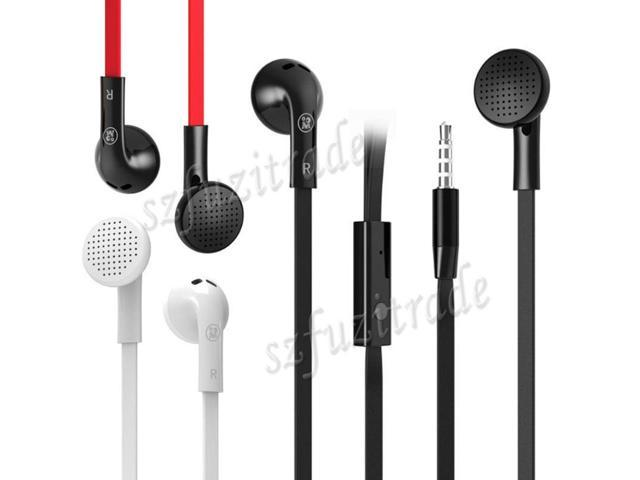 FUM00024 Design Fashion Phone Headset Wire Headphones Brand Music Earphone Flat Cable Earphones Ear Headphone with Mic Free Ship