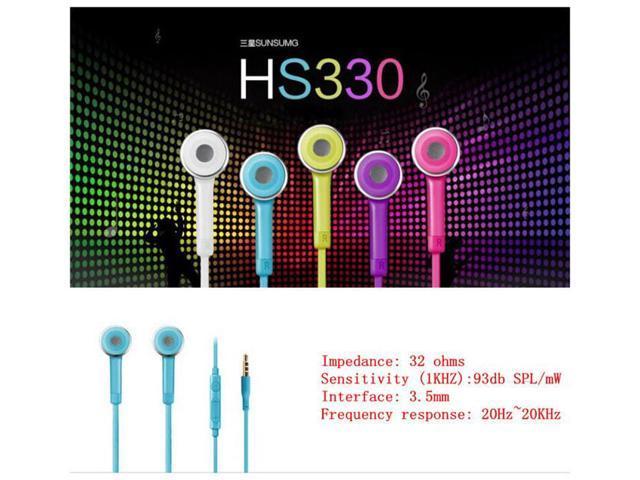 Luxury Hot Sale 3.5mm Earphone W/Volume Control For Samnsung Gallaxy S4 i9500