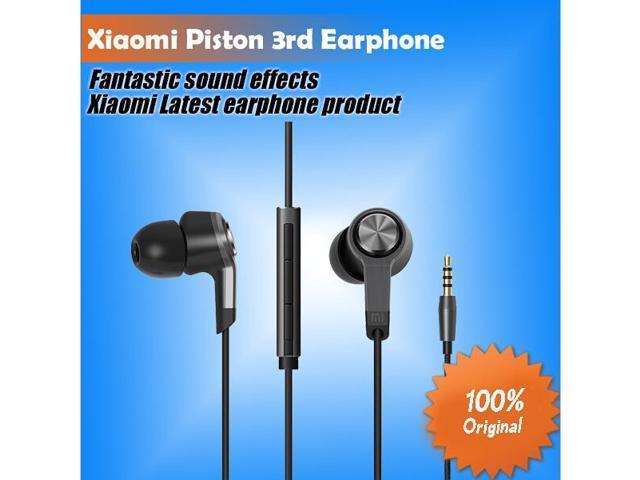 Original Xiaomi Piston 3 high quality metal Earphones super bass Headphones With Remote Mic For iPhone xiaomi samsung mi pad