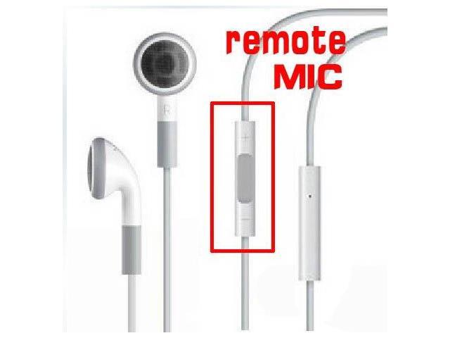 Earphone Headphone with Mic and Remote Volume Control for IPHONE 4G 3GS 3G(EJ705)