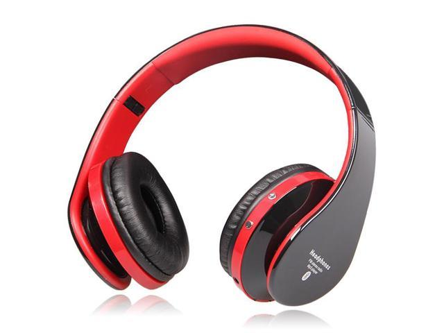 High Fidelity Surround Sound Noise Cancelling Wireless Stereo Bluetooth Headphone Headset With Mic, Support TF Card, FM Radio