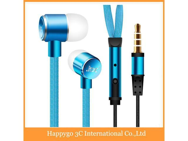 2015 New Metal Shoelace Earphones With 3.5mm Jack Stereo Bass 6 Colors Headphones For Mobile Phones MP3 MP4