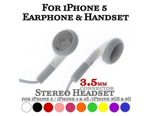 8 Colors 3.5mm Stereo Headset Headphone Earphone for iPhone 4 4S 5 5S 5C 6 Plus iPad 2 3 4 5 Mini iPod with Mic ...
