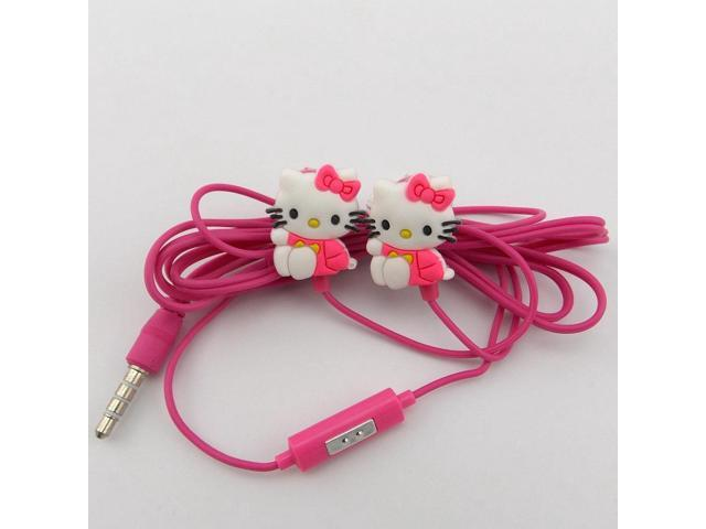 Hot selling stereo headphone with microphone/cartoon heaphone 3.5mm In Ear earphone and Headphones wired for phones /MP3 mp4 .